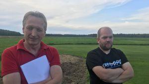 Flygledare Erik Nyberg och företagaren i hobbybranschen Robert Eklund