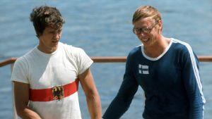 Pertti Karppinen och Peter Kolbe, OS 1976.