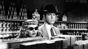 Barbara Stanwyck ja Fred MacMurray Billy Wilderin elokuvassa Nainen ilman omaatuntoa