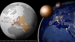 Pluto ja Kharon kokovertailu