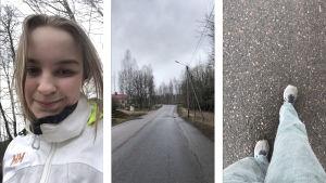 Tre bilder från en promenad