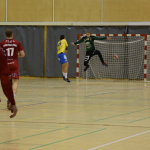 HIK:s Romeo Nyberg gör mål på Cocks Kalle Alander.