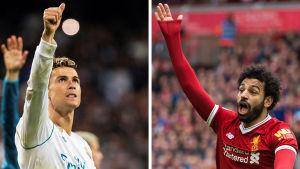 Cristiano Ronaldo och Mohamed Salah.