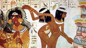 Musiker och dansörer på fresken Tomb of Nebamun