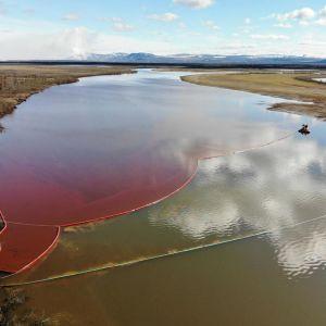Utsläpp av diesel har hamnat i floden Ambarnaya efter ett läckage från ett kraftverk i Norilsk