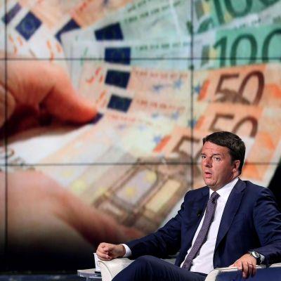 Premiärminister Matteo Renzi i italiensk tv den 9 september 2014