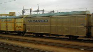 VR Cargo på bangården i Helsingfors.