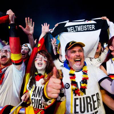 Tyska anhängare i fotbolls-VM 2014.