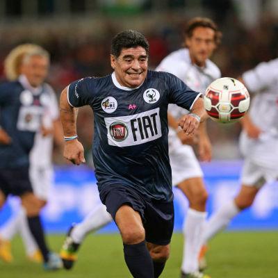 Diego Maradona, välgörenhetsmatch i Rom, 1.9.2014