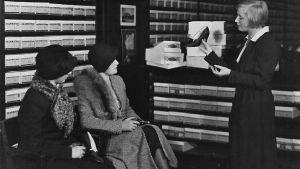 Skoavdelningen på Stockmann på 1930-talet