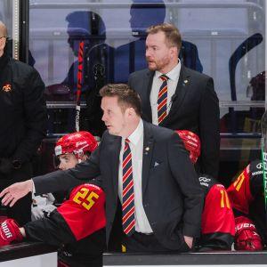 Lauri Marjamäki Jokereiden ja Dinamo Minskin ottelussa helmikuussa 2021.