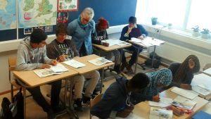 Invandrarklass i Vöråstans skola