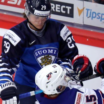 Finland mot USA i JVM.