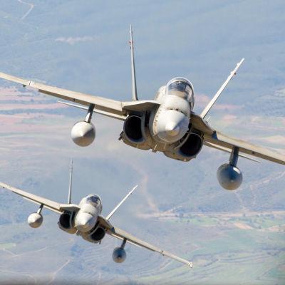 Spanska stridsflygplan av typen F-18 Hornet