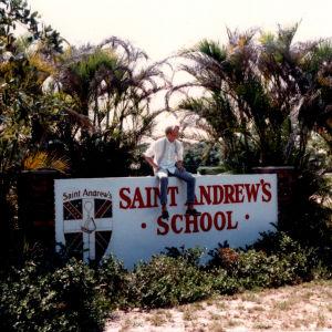 Olli Soini Floridassa vaihto-oppilaana 1980-luvulla.