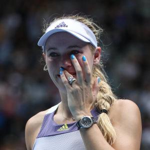 Caroline Wozniacki avslutade sin tenniskarriär.
