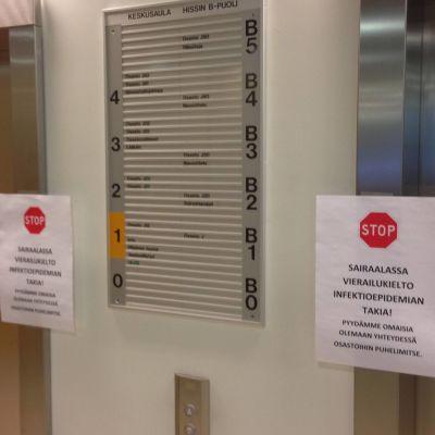 Jalkarannan sairaalassa on syyhyepidemia.