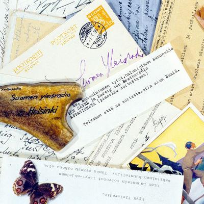 Lauantain toivotut levyt -ohjelmaan vuosikymmenten aikana saapuneita kuuntelijoiden toivekirjeitä ja postikortteja