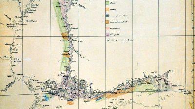 Den första iskartan för Östersjön, publicerad 12.3.1915
