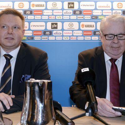 Harri Nummela och Kalervo Kummola.