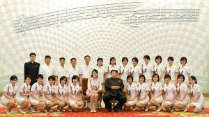 Moranbong Band, Kim Jong-un och hans fru Ri Sol-ju