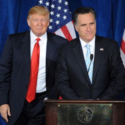 Donald Trump och Mitt romney under kampanjen 2012