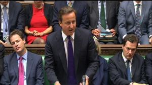 David Cameron på extrainkallad parlamentssession om kravallerna i Storbritannien