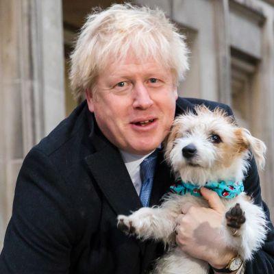 Boris Johnson poserade med sin hund Dylan i december 2019, långt innan han insjuknade i covid-19 och ändrade sin livsstil.