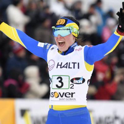 Krista Pärmäkoski är överlägsen på hemmaplan.