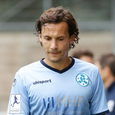 Sebastian Mannström i Stuttgarter Kickers tröja.