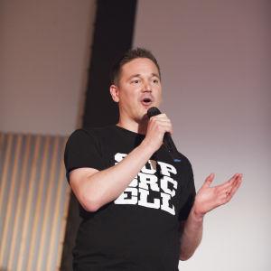 Input Helsinki 2014 -konferenssi. Toimitusjohtaja toimitusjohtaja Ilkka Paananen (Supercell).