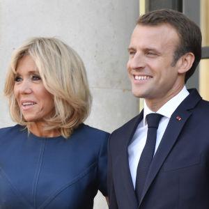 Fru Brigitte Macron och president Emmanuel Macron.