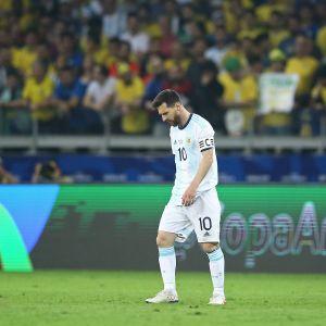 Leo Messis Argentina utslaget.