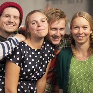 Niclas Johansson, Linda Sundberg, Staffan Gräsbeck och Hanna Enlund