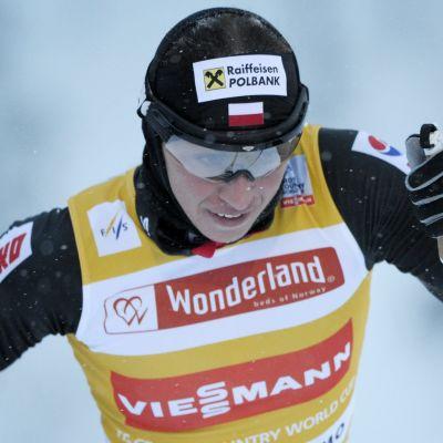 Justyna Kowalczyk etta på 5 km i Kuusamo 2013.