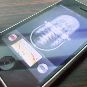 kuva älypuhelimen sanelimesta