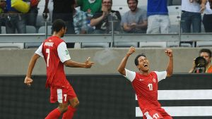 Jonathan Tehau gjorde Tahitis mål.