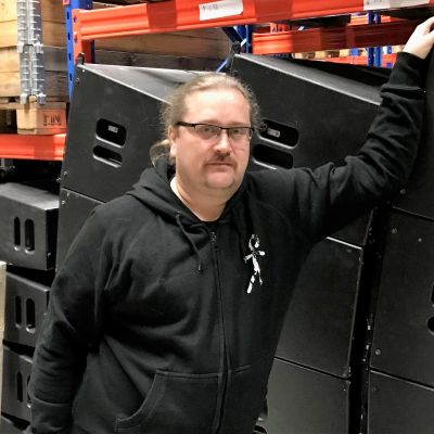 Liiketoiminnan johtaja Ville Kuljo Ääni- ja valotekniikka Ruosilasta.
