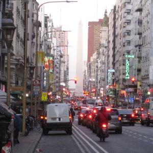 Katunäkymä Buenos Airesista