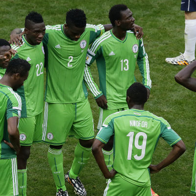 Nigeria efter åttondelsfinalförlusten mot Frankrike, VM 2014
