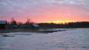 Högt vattenstånd i Björkö, Korsholm.