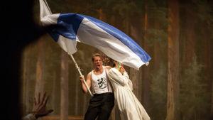 Foto från Sockenskomakarna på Nationalteatern.