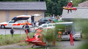 Tågolycka i Schweiz augisti 2014.