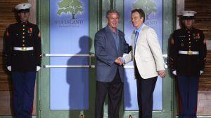George Bush och Tony Blair träffades på G8 mötet i juni 2004
