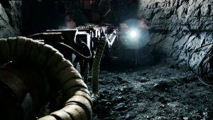 Kuva ydinjätteen loppusijoituspaikan (Onkalon) työmaalta