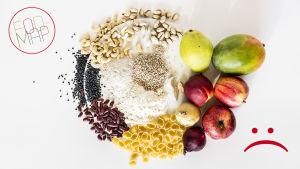 Fodmap-hiilihydraatteja sisältäviä ruokia kerättynä yhteen