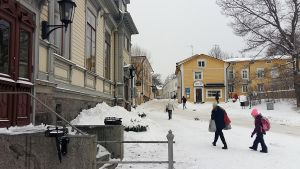 Kyrkogatan i Borgå i februari 2018.