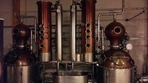 Destilleringsapparatur i Smabyn på Åland.