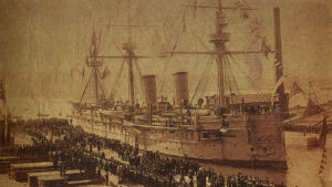 Det ryska skeppet Dmitrii Donskoi.
