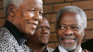 Kofi Annan och Nelson Mandela